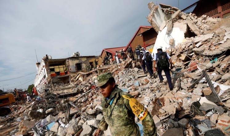 مقتل وجرح المئات في زلزال المكسيك 7،1 درجة