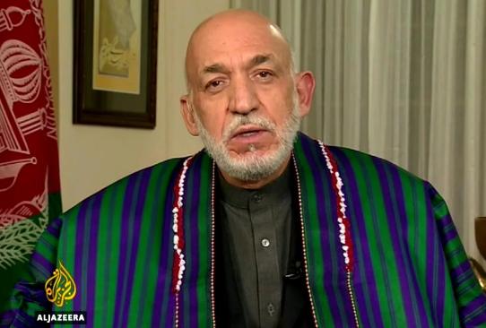كرزاي : امريكا تتعاون مع تنظيم داعش في أفغانستان