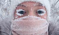 جمال الجليد سيلفي في سيبيريا