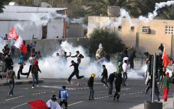 مظاهرات في البحرين بمناسبة ثورة 14 شباط