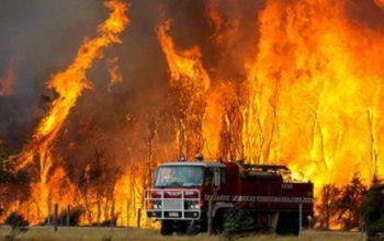 اتجاه الرياح زاد مساحة الحريق في أستراليا