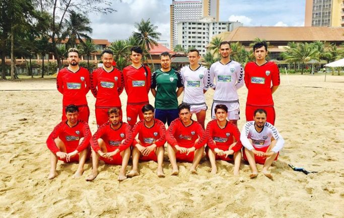 Afghanistan's Beach Players Defeat Malaysia