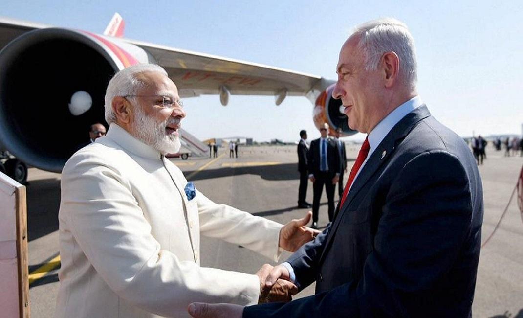 India's Modi in Israel on historic three-day visit