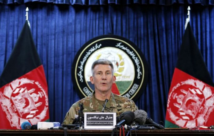 Nicholson  emphasized on Taliban and Daesh eradication in Afghanistan