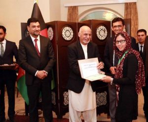 President Ghani hailed the medalists of the country