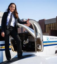 Shaesta Waiz completes record-breaking solo round-the-world flight