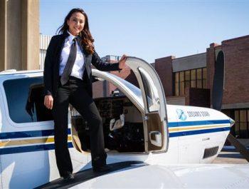 Shaesta Waiz completes record-breaking solo round-the-world flight