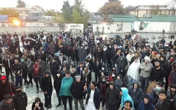 Demonstration in Kabul over Malistan & Jaghori Insecurity