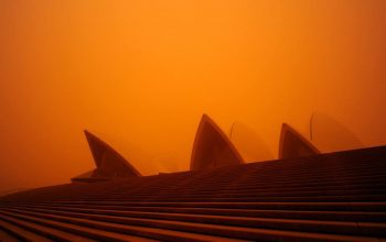 Dust Storm Covered Australia's Sky