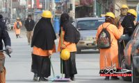 """Kabuli """"Orang clothed"""" Women; Passing Live with Broom Rustles"""