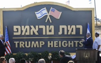 'Trump Heights' in Golan; Israel's gratitude to US President