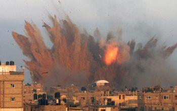 Zionist Regime's Warplanes Attack Gaza Strip