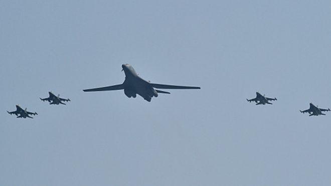 Над Корейским полуостровом пролетят бомбардировщики США в рамках военных учений