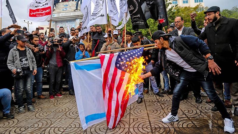 Массовая акция протеста в секторе Газа