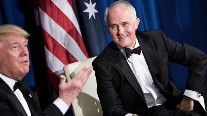 Борьбу с боевиками, покидающими Ирак и Сирию, Трамп обсудил с премьером Австралии