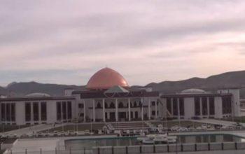 Ракетный обстрел возле парламента