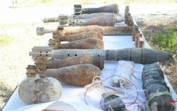 Обнаруженные неразорвавшиеся боеприпасы в Парване