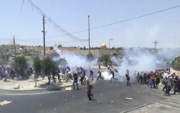 В ходе столкновений в Газе пострадали 77 палестинцев