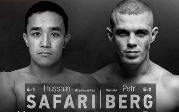 Борьба Сафари с русским бойцом