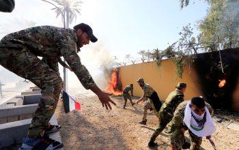 В Багдаде рядом с посольством США упали три ракеты
