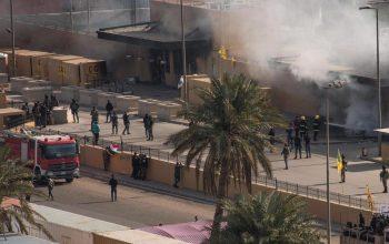 В Багдаде в районе посольства  США упали две ракеты