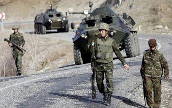 درگیری ارتش ترکیه با نیروهای کرد سوریه