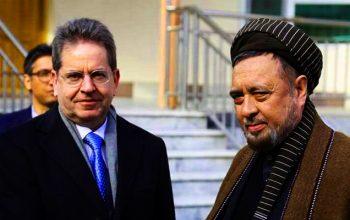 دیدار استاد محقق با سفیر اتحادیه اروپا؛ بحث روی گسترش داعش، آمدن جنرال دوستم و تنشهای داخلی