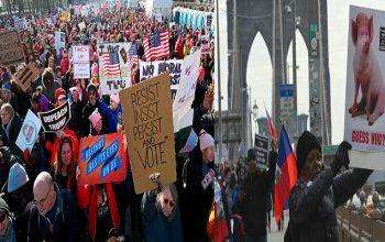 تظاهرات صدها هزار نفری زنان در آمریکا علیه سیاستهای ترامپ