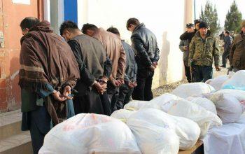 5 قاچاقچی مواد مخدر در ولایت جوزجان بازداشت گردیدند