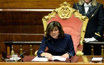 برای نخستین بار یک زن رییس مجلس سنای ایتالیا شد