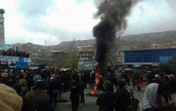 معترضان در شهر پلخمری، شاهراه کابل-شمال را بستند
