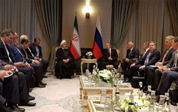 روحانی و پوتین با هم در ترکیه دیدار کردند
