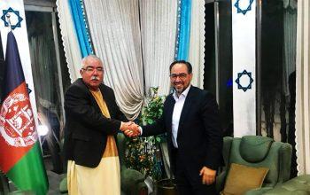 صلاح الدین ربانی و جنرال دوستم در ترکیه با هم دیدار کردند