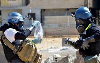 ذخیره گاه شیمیایی تروریستها در دوما کشف شد