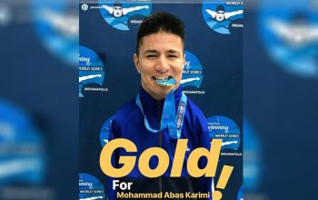 عباس کریمی؛ معلول آبباز افغان مدال طلا را گرفت