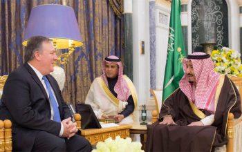 وزیرخارجه جدید آمریکا در اولین سفر خارجی خود به عربستان رفت