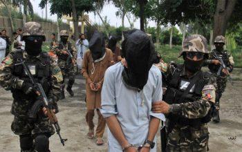 یک شبکه گروه تروریستی طالبان در ولایت هلمند بازداشت شدند