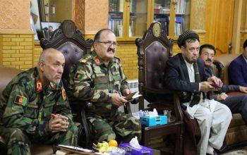 جلسه امنیتی پیرامون بهتر شدن اوضاع امنیتی غرب کابل به ریاست استاد محقق برگزار شد