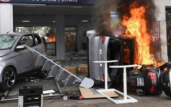 خیابانهای پاریس پر از معترضین چپگرا؛ فرانسه ناآرام است