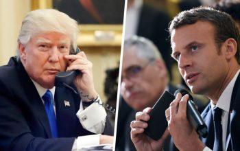مکرون: ما با همکاری اروپا دربرابر اقدامات آمریکا مقابله خواهیم کرد