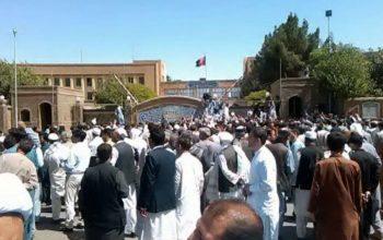 تجمع در اعتراض به ترور حجه الاسلام توکلی در هرات
