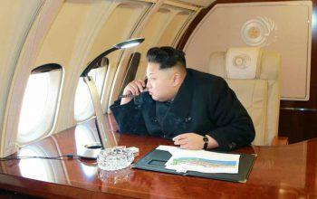 هواپیمایی شخصی رهبر کوریایی شمالی پیونگ یانگ را به قصد سنگاپور ترک کرد