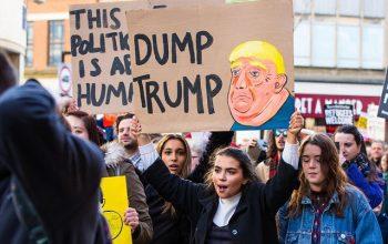 ترامپ در فنلاند با تظاهرات شدید مورد استقبال قرار گرفت