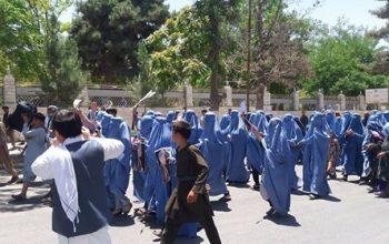 شلیک نیروهای امنیتی بر معترضان زن در ولایت فاریاب