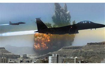 حمله مجدد جنگنده های سعودی بالای رادیو الحدیده یمن