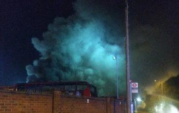 انفجار و آتش سوزی در ایستگاه بس در لندن
