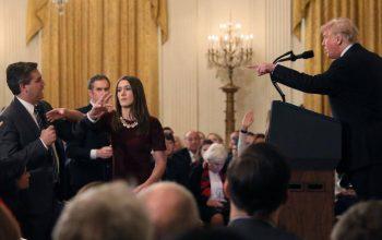 بدرفتاری ترامپ با خبرنگار «سی ان ان»