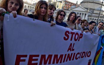 زنان ایتالیایی برای محو خشونت علیهزنان تظاهرات کردند
