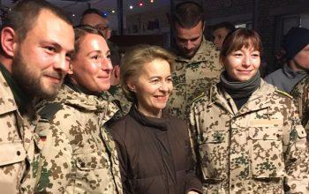 وزیر دفاع آلمان به افغانستان آمد