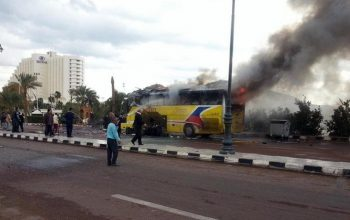 تلفات انفجار بس در مصر به 16 تن رسید